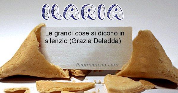 Ilaria - Biscotto della fortuna per Ilaria