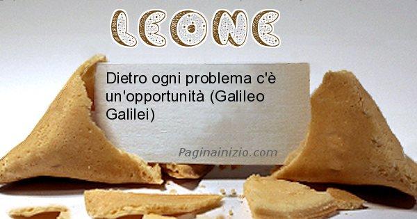 Leone - Biscotto della fortuna per Leone