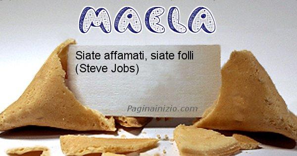 Maela - Biscotto della fortuna per Maela