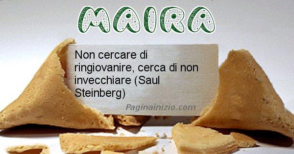 Maira - Biscotto della fortuna per Maira