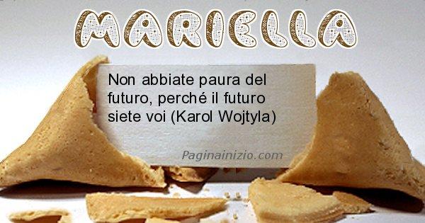 Mariella - Biscotto della fortuna per Mariella