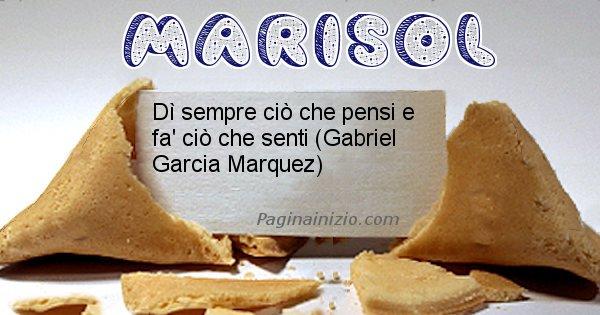 Marisol - Biscotto della fortuna per Marisol