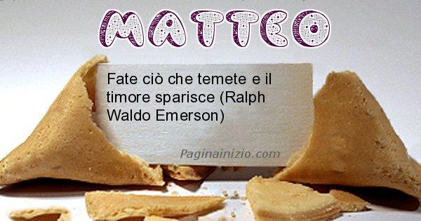 Matteo - Biscotto della fortuna per Matteo