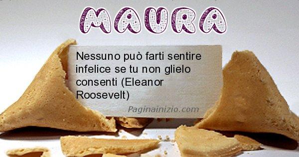 Maura - Biscotto della fortuna per Maura