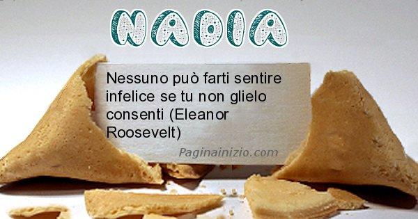 Nadia - Biscotto della fortuna per Nadia
