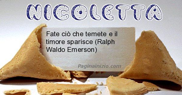 Nicoletta - Biscotto della fortuna per Nicoletta