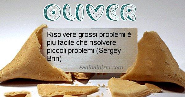 Oliver - Biscotto della fortuna per Oliver
