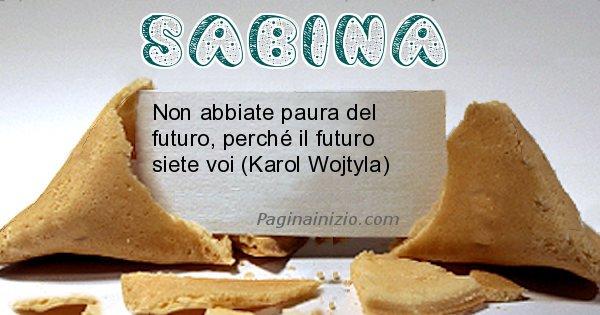 Sabina - Biscotto della fortuna per Sabina