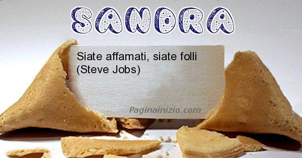 Sandra - Biscotto della fortuna per Sandra