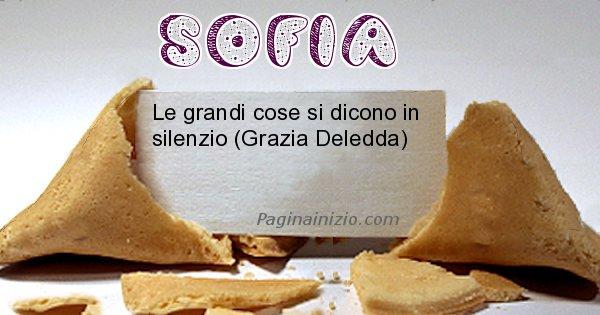 Sofia - Biscotto della fortuna per Sofia