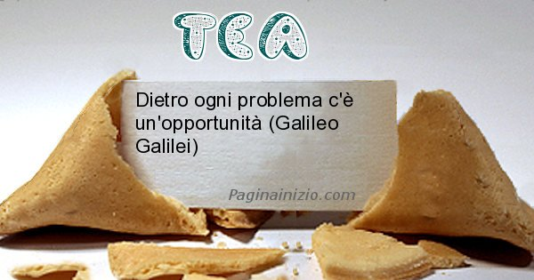 Tea - Biscotto della fortuna per Tea