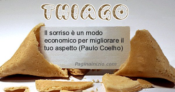 Thiago - Biscotto della fortuna per Thiago