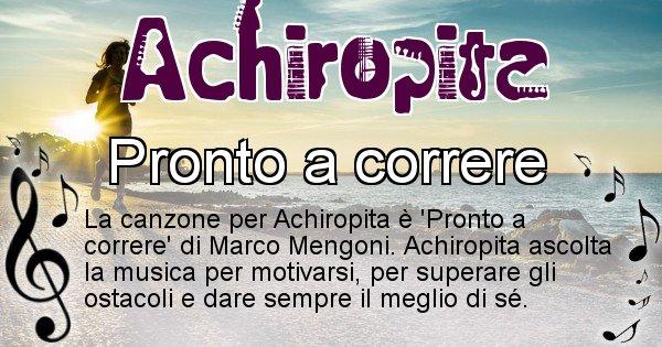 Achiropita - Canzone ideale per Achiropita