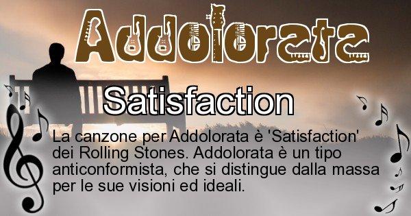 Addolorata - Canzone ideale per Addolorata