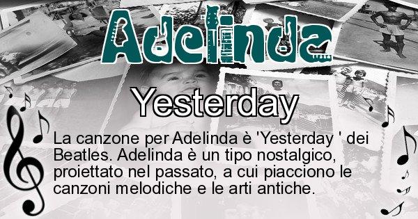 Adelinda - Canzone ideale per Adelinda