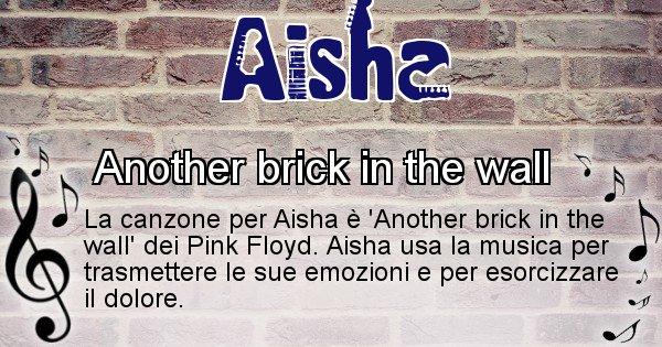 Aisha - Canzone ideale per Aisha