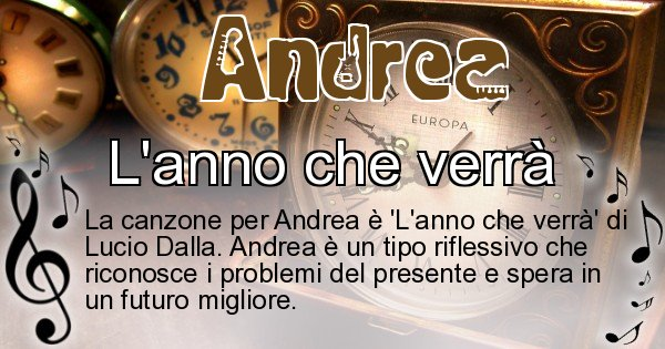 Andrea - Canzone ideale per Andrea