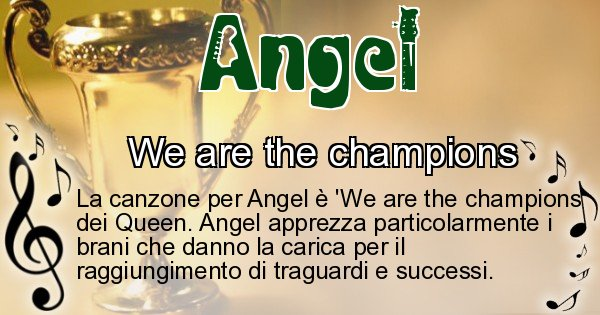Angel - Canzone ideale per Angel