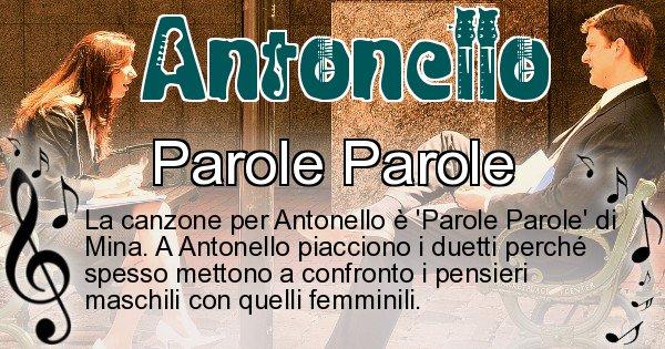 Antonello - Canzone ideale per Antonello
