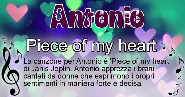 Antonio - Canzone ideale per Antonio