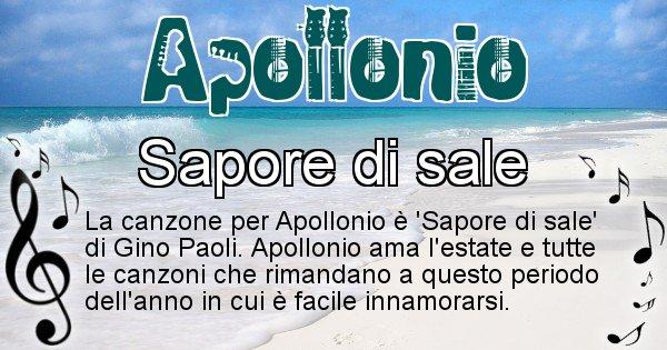 Apollonio - Canzone ideale per Apollonio