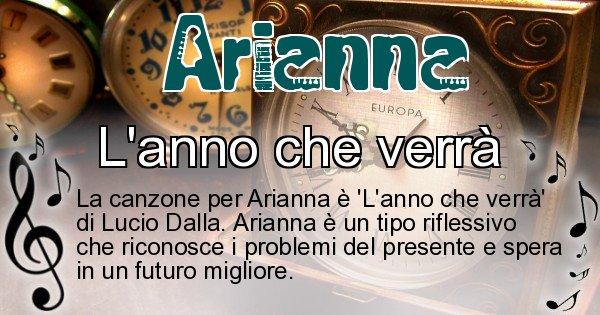 Arianna - Canzone ideale per Arianna