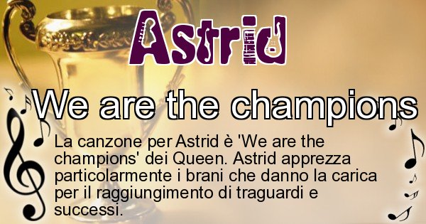 Astrid - Canzone ideale per Astrid