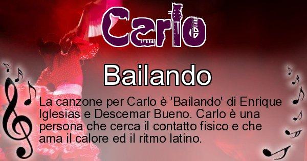 Carlo - Canzone ideale per Carlo
