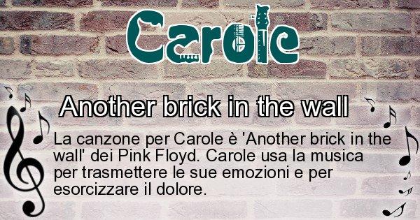 Carole - Canzone ideale per Carole