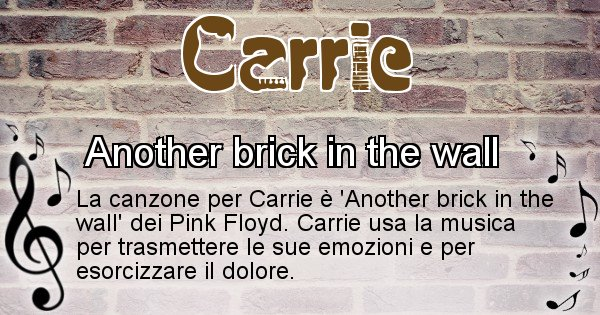 Carrie - Canzone ideale per Carrie