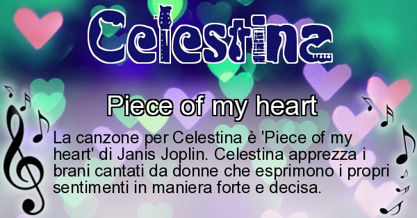 Celestina - Canzone ideale per Celestina