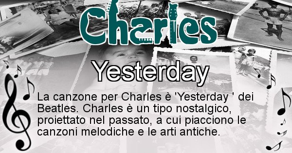 Charles - Canzone ideale per Charles