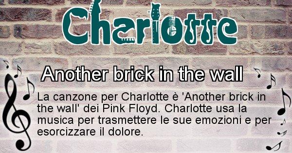 Charlotte - Canzone ideale per Charlotte