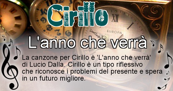 Cirillo - Canzone ideale per Cirillo