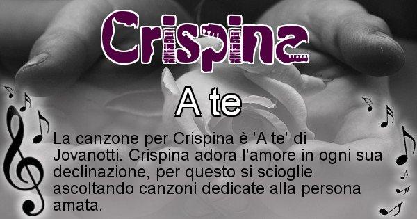 Crispina - Canzone ideale per Crispina