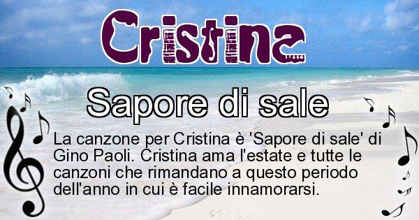 Cristina - Canzone ideale per Cristina