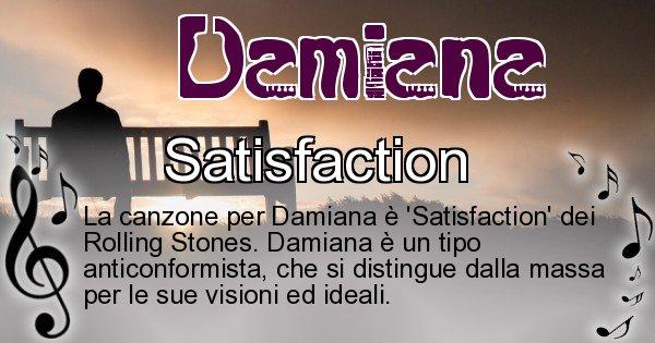 Damiana - Canzone ideale per Damiana