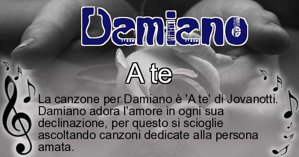 Damiano - Canzone ideale per Damiano