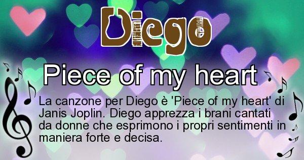 Diego - Canzone ideale per Diego