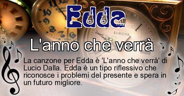 Edda - Canzone ideale per Edda