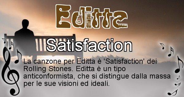 Editta - Canzone ideale per Editta