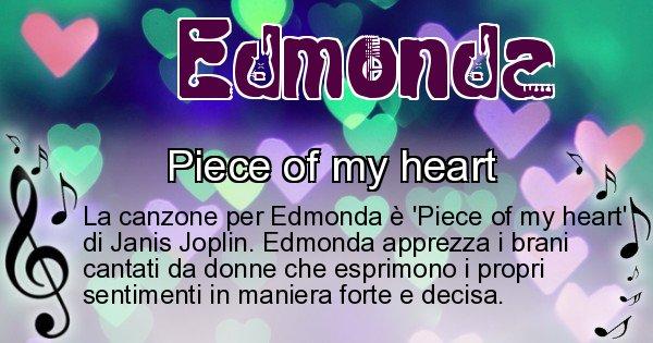 Edmonda - Canzone ideale per Edmonda