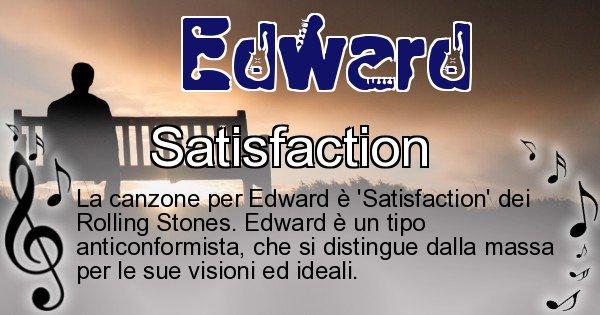 Edward - Canzone ideale per Edward
