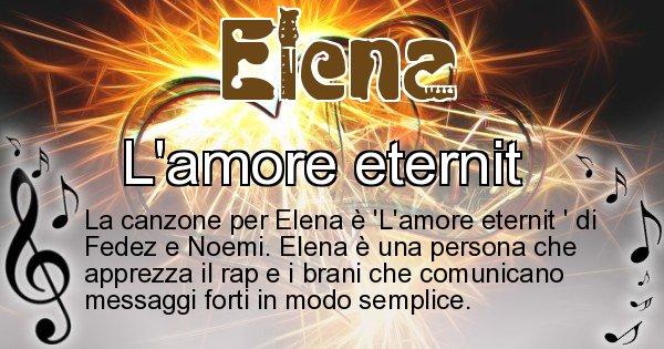 Elena - Canzone ideale per Elena