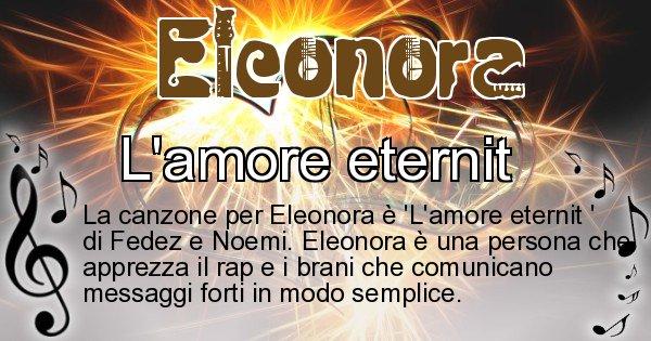Eleonora - Canzone ideale per Eleonora