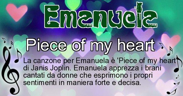 Emanuela - Canzone ideale per Emanuela