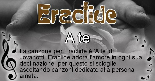 Eraclide - Canzone ideale per Eraclide