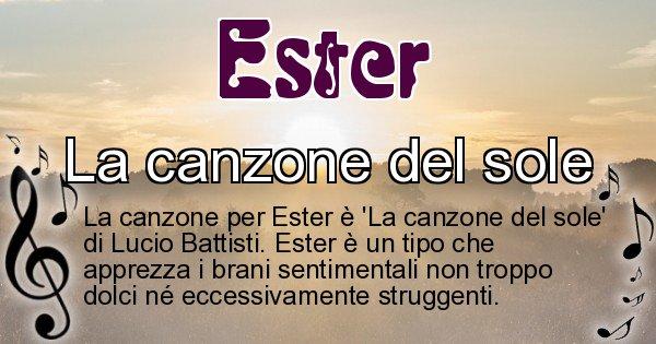 Ester - Canzone ideale per Ester