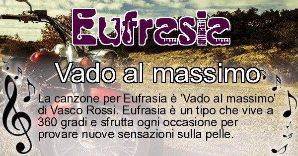 Eufrasia - Canzone ideale per Eufrasia
