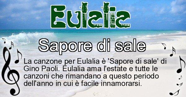 Eulalia - Canzone ideale per Eulalia